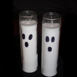 Ghost Candles – Easy Dollar Store Craft