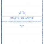 Planning your next trip? Download the FREE travel organizer printable to make planning your next trip easier. Filled with great #travel ideas. #travelorganizer #travelplanning