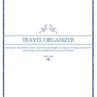 FREE Travel Organizer Printable
