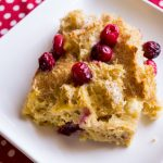 Cranberry Eggnog Breakfast Bake