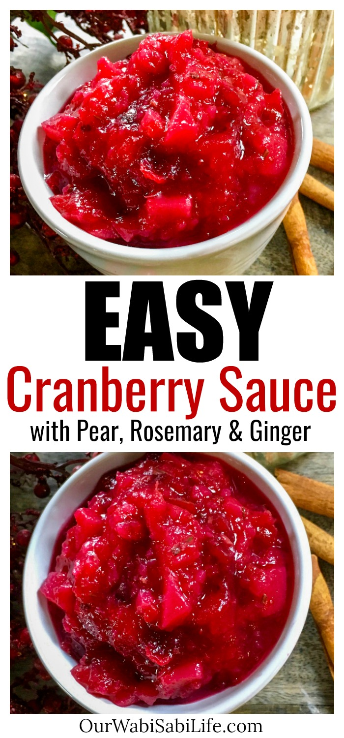 This gorgeous, delicious cranberry-pear sauce is sure to be a hit this holiday season! It is super quick and easy cranberry sauce recipe to make and does not include any refined sugar. Instead, it gets its sweetness naturally from ripe pears and a touch of real maple syrup. Once you try this recipe, you'll never look at store-bought cranberry sauce the same.