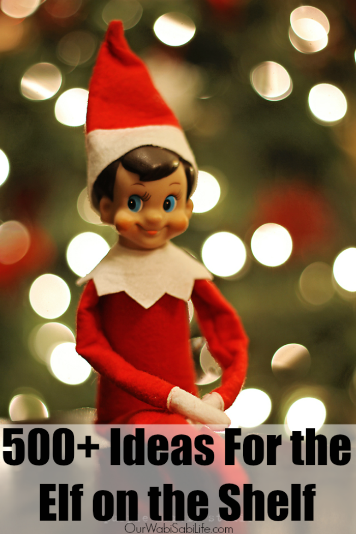 Looking for Elf on the Shelf Ideas? Here are 500+ Elf on the Shelf ideas for when you little elf comes to visit. Take the stress out of the elf season and use these Elf on the Shelf Ideas.
