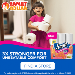 Scott ComfortPlus Toilet Paper at Family Dollar