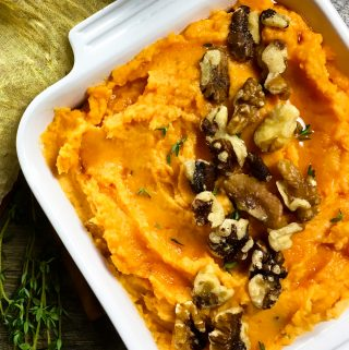 Creamy Mashed Sweet Potatoes with Fresh Thyme