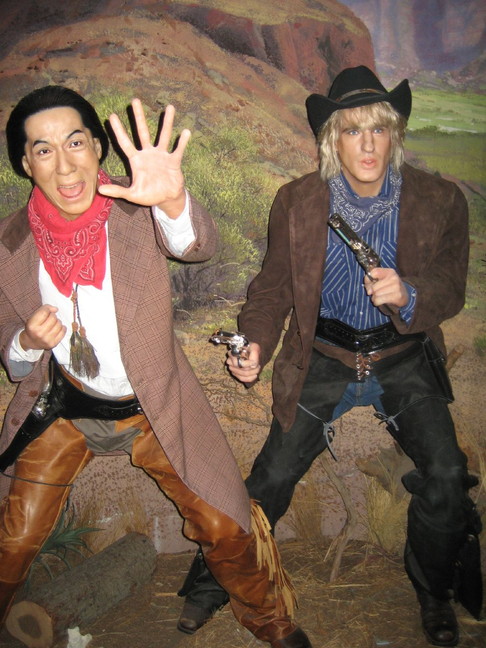Wilson Owen and Jackie Chan at Hollywood Wax Museum