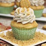 Peanut butter banana cupcakes