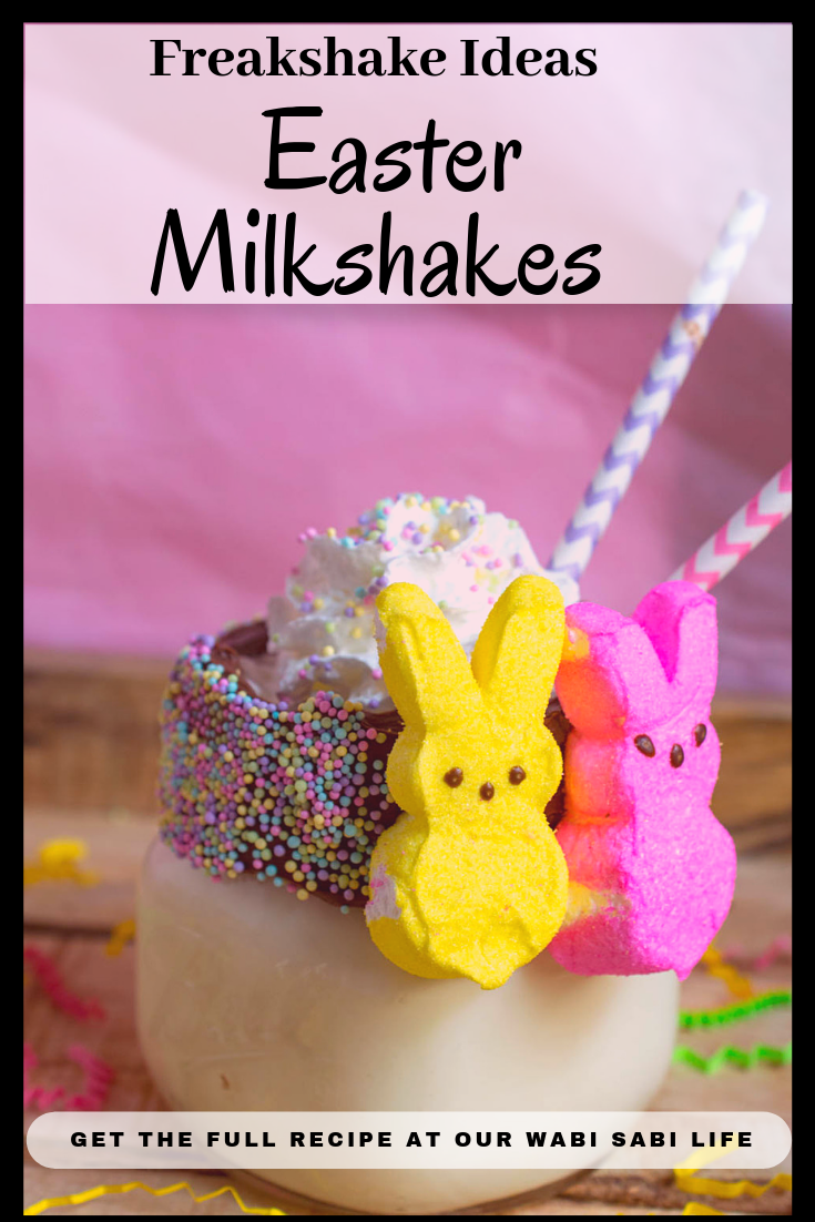 Looking for a delicious Easter treat idea? Try this Easter Milkshake Freakshake and you will wonder why you never thought of it before. This milkshake brings your favorite Easter candies to the milkshake party.