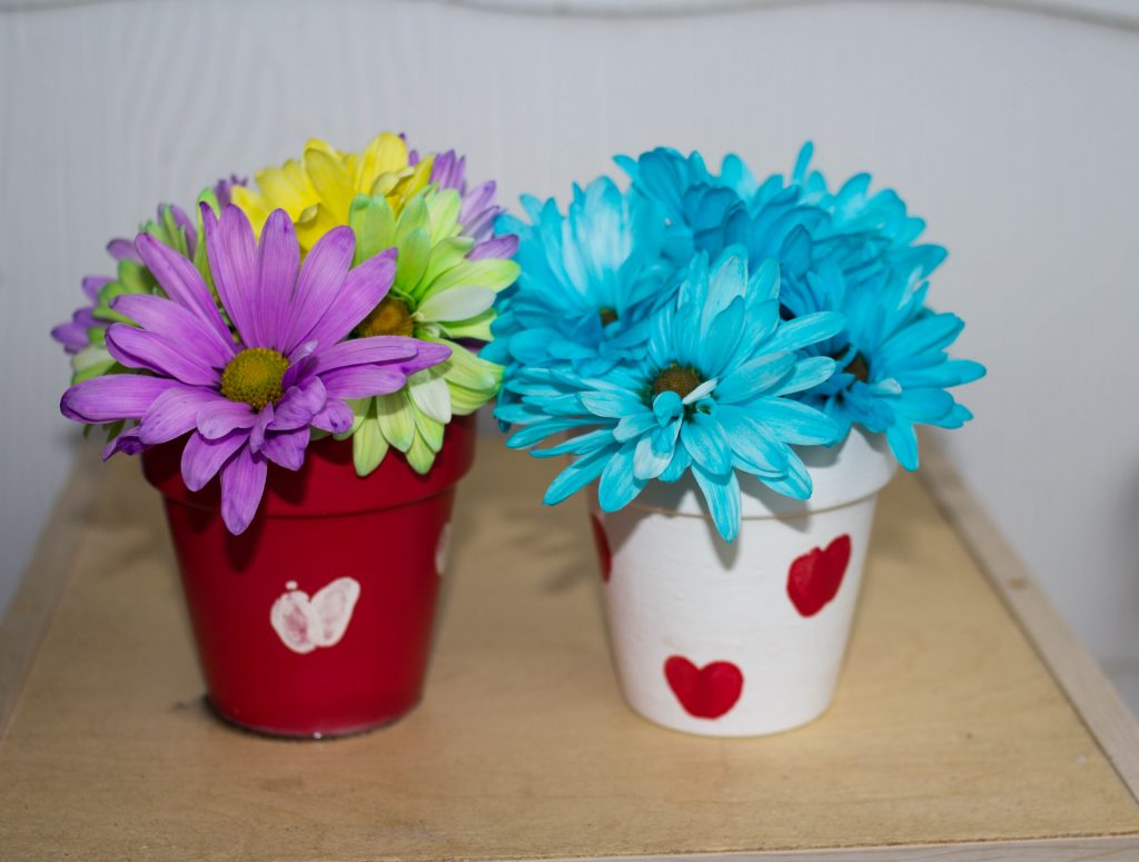 flower pot crafts with hearts