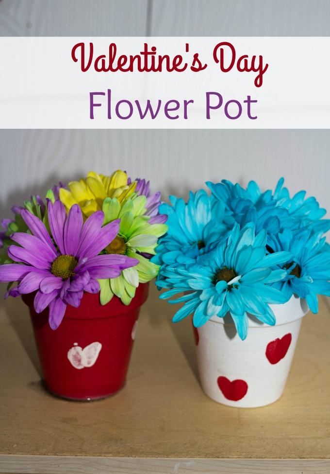 valentine's day flower pot