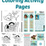Free Moana Coloring Pages and Activities