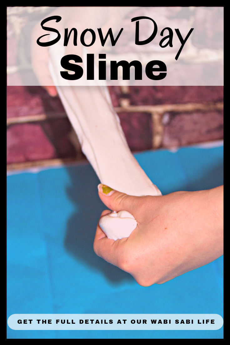 playing with snow slime