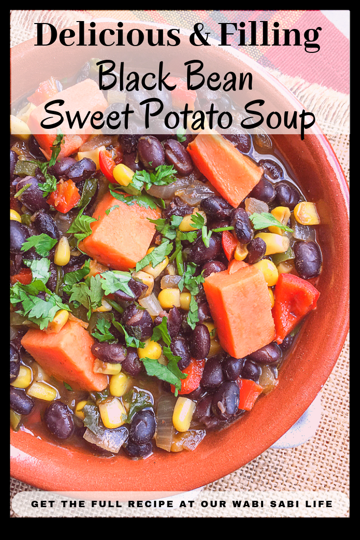 Looking for a healthy black bean sweet potato soup? This is a thick soup that is filled with healthy ingredients that is sure to fill you up. Perfect for a cold night or as a light lunch idea.