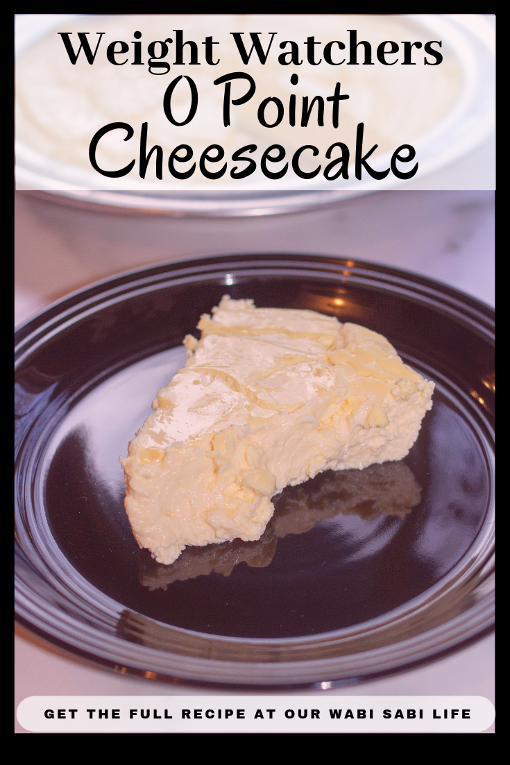 Looking for a low-calorie cheesecake? This easy to make cheesecake is 0 Points. Yes, this is a 0 Point Weight Watcher dessert. Enjoy this Weight Watchers Cheesecake as a great tasting treat and don't worry about the points.  #cheesecake #weightwatchersrecipes #weightwatchersdesserts