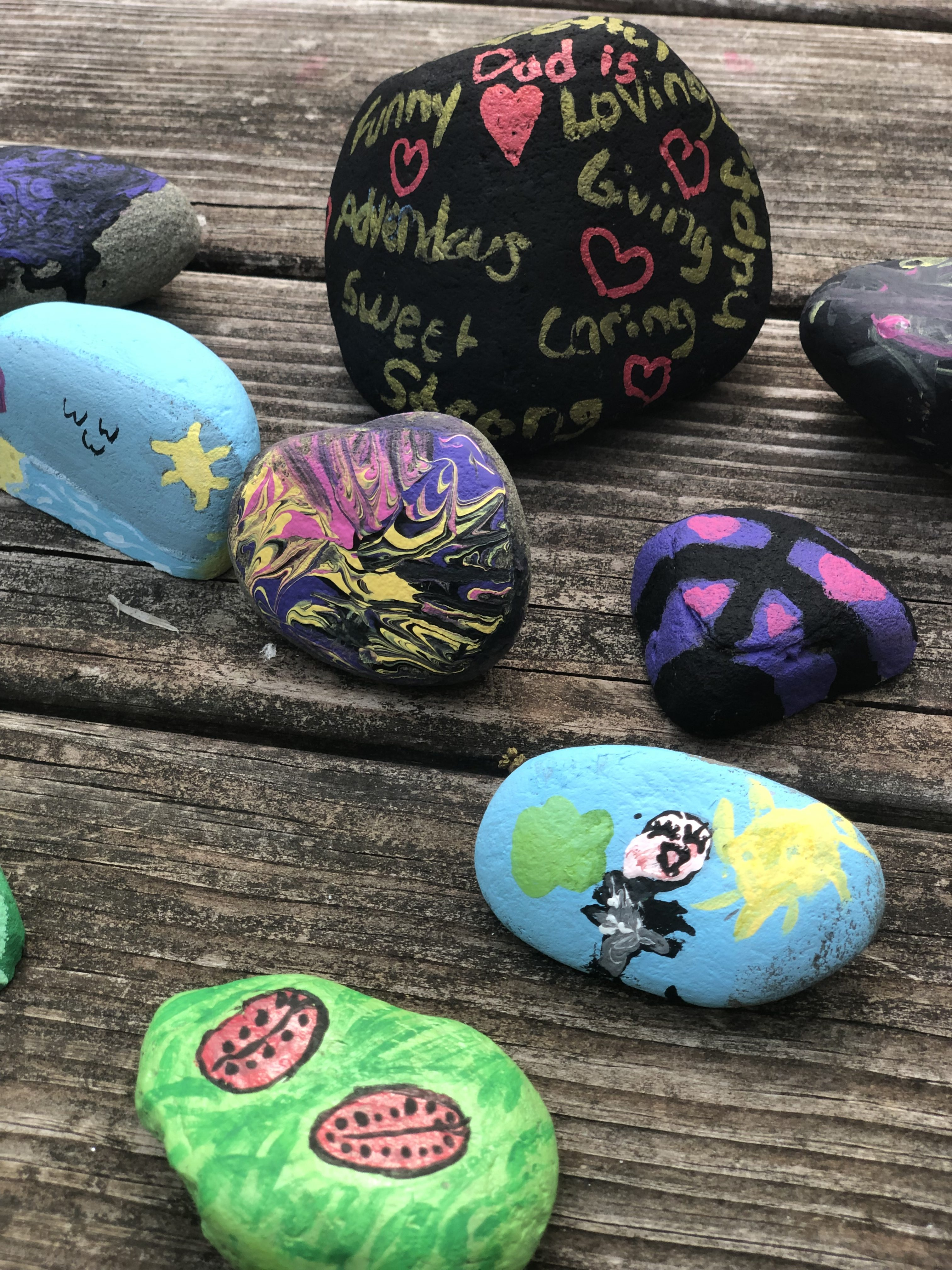 "Looking for a fun and easy Father's Day craft. With these rocks, you get to tell Dad just how special he is. Make ""My Dad Rocks"" rocks and see how much he smiles. It is an easy and inexpensive Father's Day gift kids can make themselves."