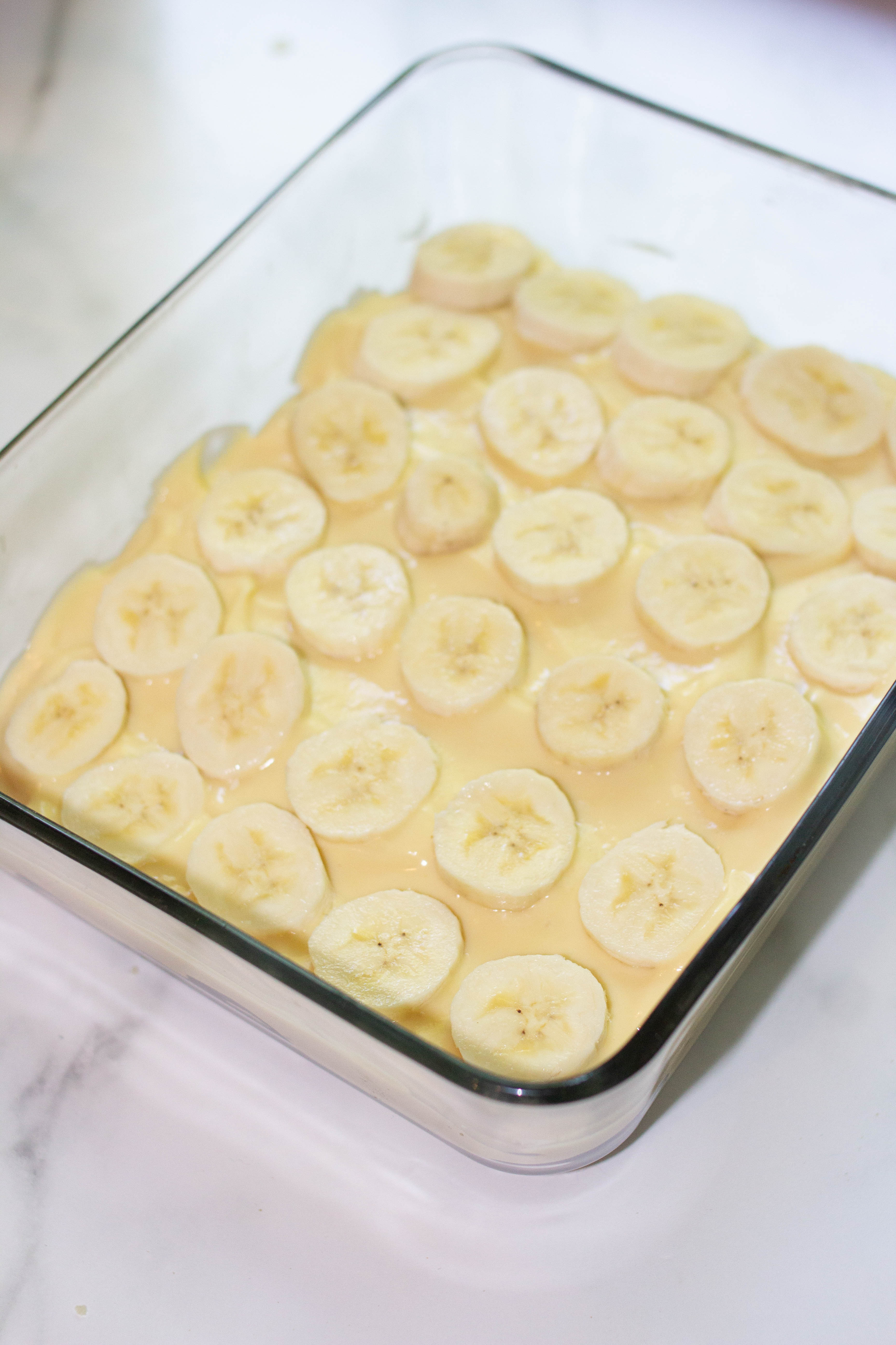pan of banana pudding