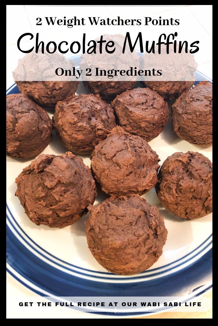 Looking for a healthier chocolate muffin recipe? I have the best tasting chocolate pumpkin recipe. It is so easy to make, with only 2 ingredients. It is tasty, almost healthy, definitely healthier than most muffin recipes and simply delicious.  #muffins #chocolate #weightwatchers #weightwatchersbreakfast #weightwatchersdessert