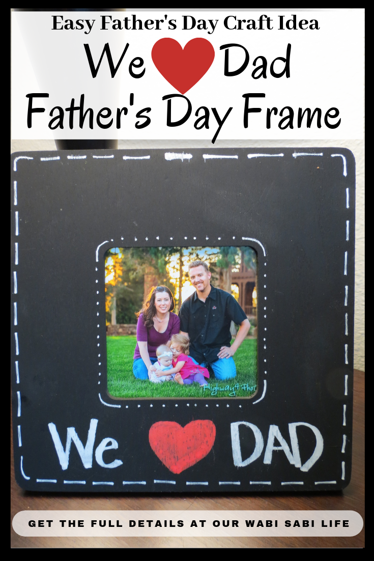 Looking for a last minute Father's Day present? This is an expensive Father's Day present idea. Not only is it easy to make, but Dad is also sure to love this Father's Day Frame..  #FathersDay #Craft #Craft
