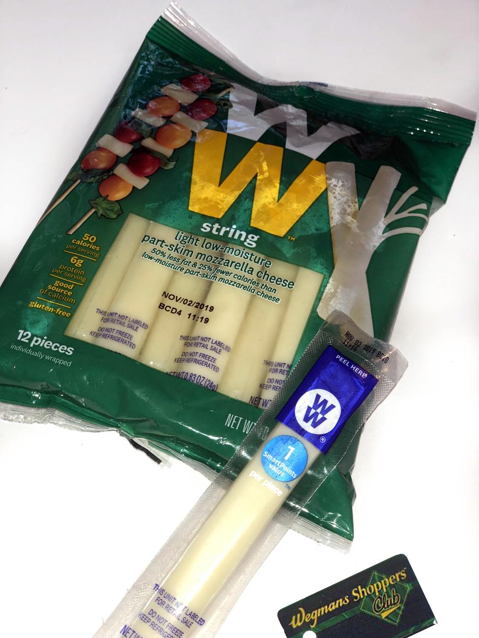 cheese sticks with wegman card