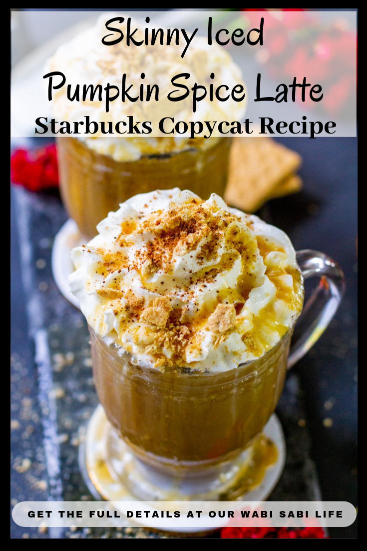skinny iced pumpkin spice latte starbucks copycat recipe