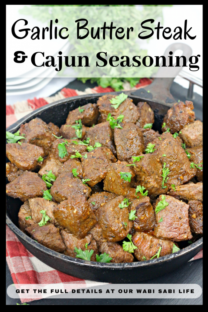 garlic butter steak bites with cajun seasoning