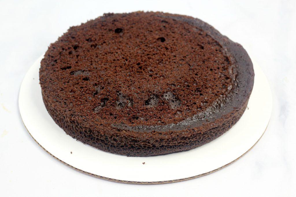layer of chocolate cake