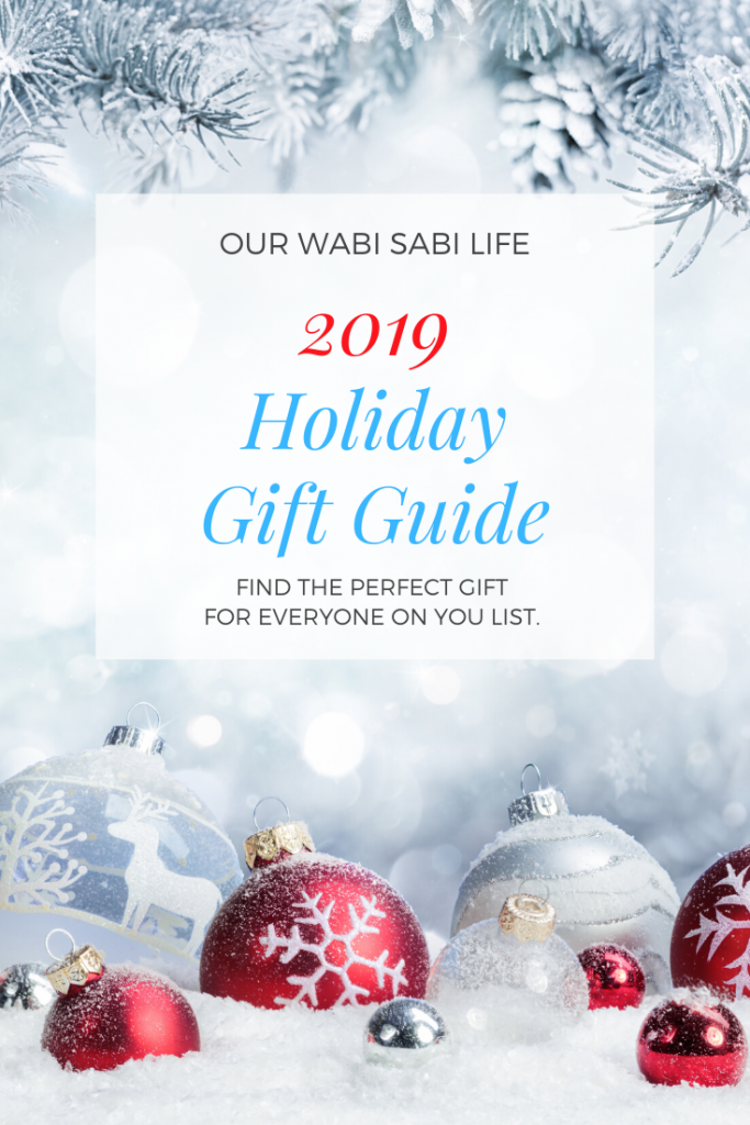 Holiday GIft Guide with snow and Christmas balls