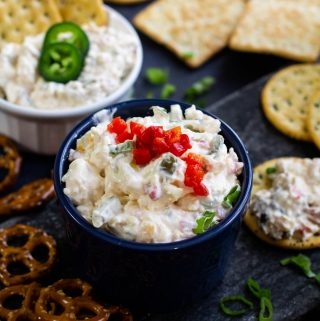 ramekin of jalapeno popper dip recipe