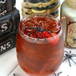 black widow drink with spiders and cherry