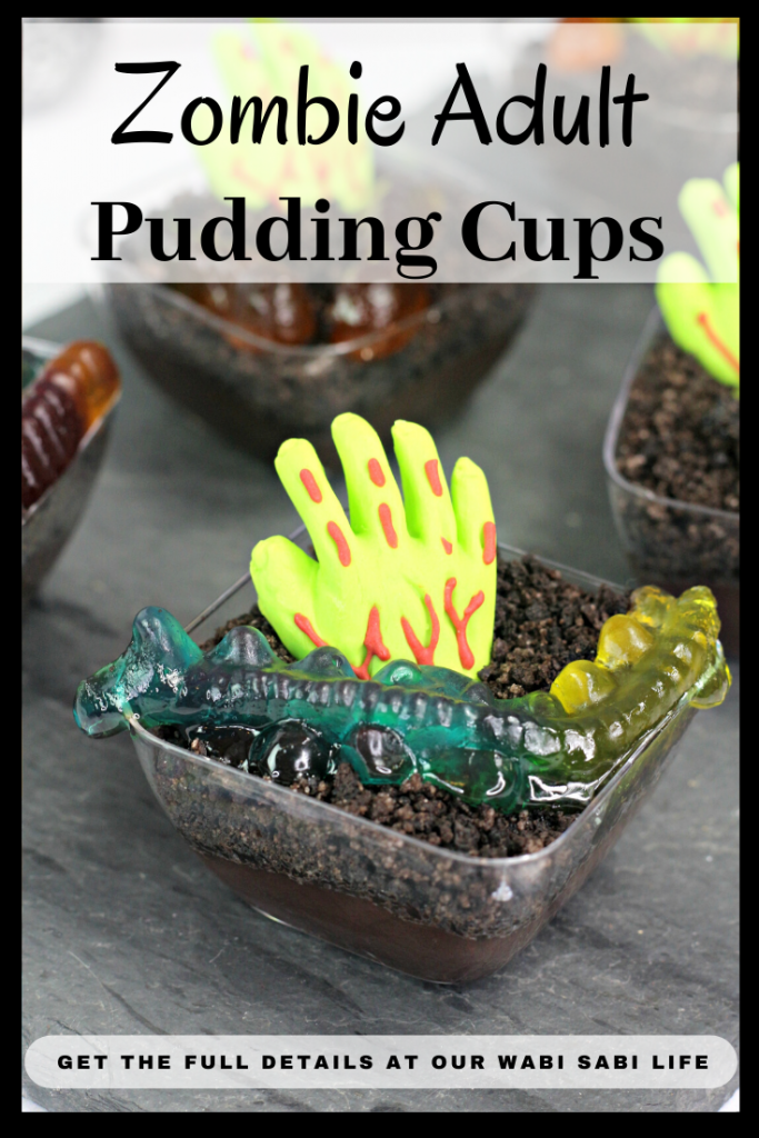 zombie adult pudding cups