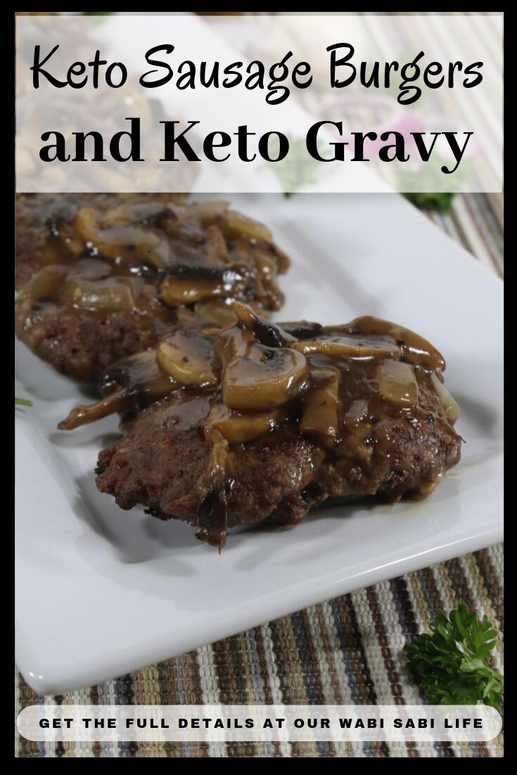 keto sausage and keto gravy