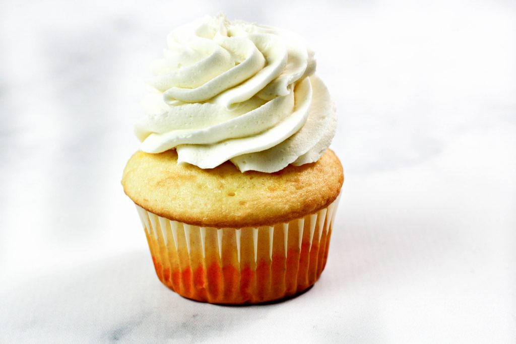 frosting on top of cupcake