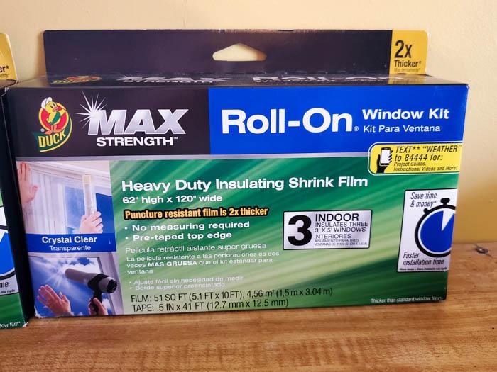 Max Strength Duck Brand Roll on Window Kit