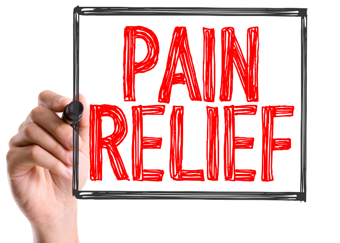 someone writing pain relief