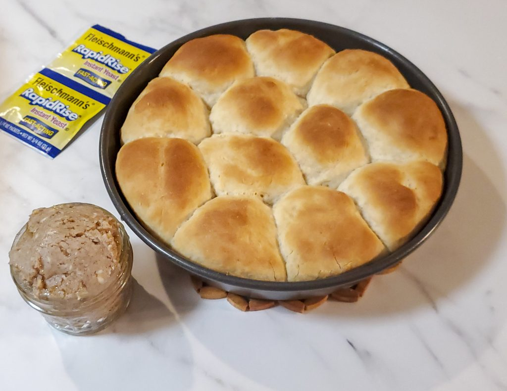 baked rolls with cinnamon butter
