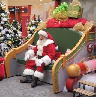 Santa wainting for his next guest