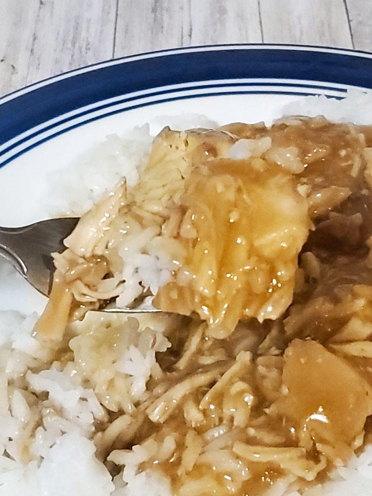 skinny orange chicken over rice
