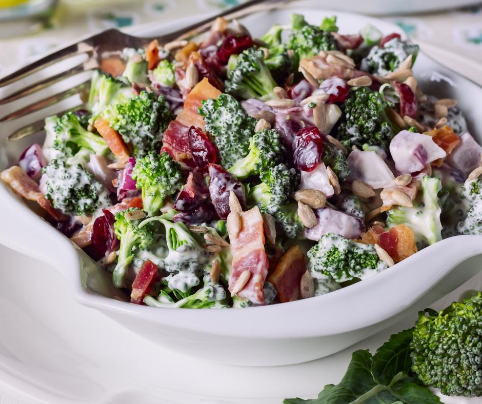 The Best Picnic Broccoli Salad Recipe Our Wabi Sabi Life