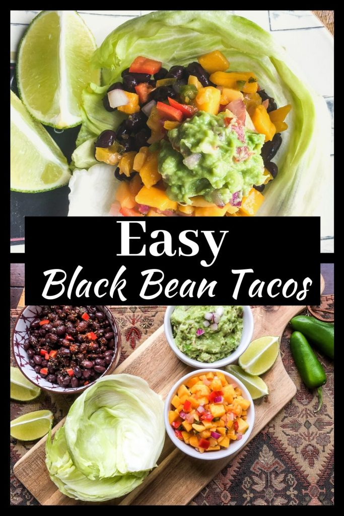 black bean tacos for pinterest