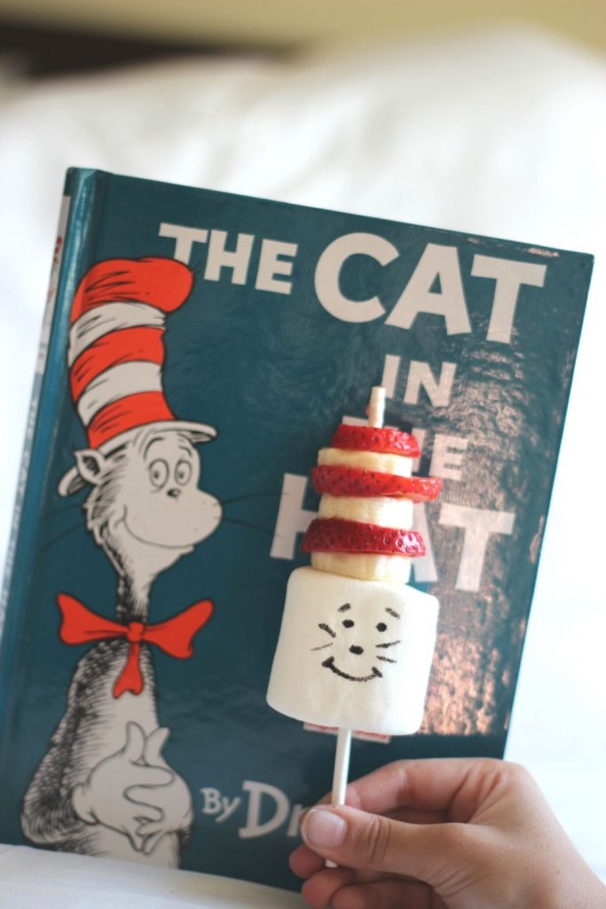 cat in the hat snack with the book