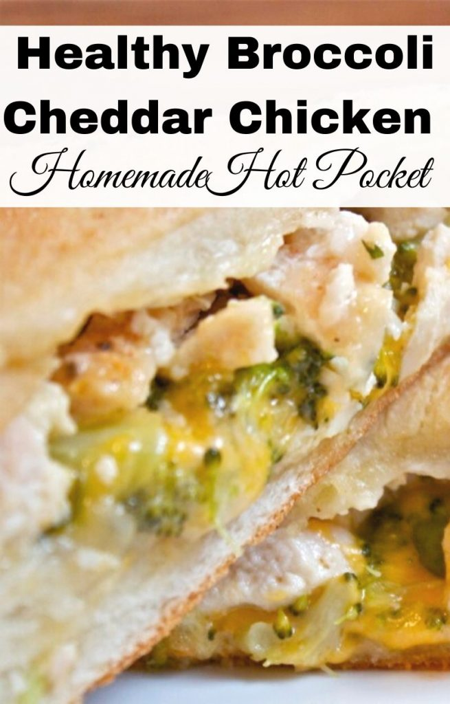 Healthy Broccoli Cheddar Chicken Pocket