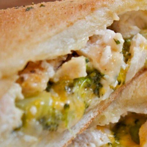 Healthy Broccoli Cheddar Chicken Pocket