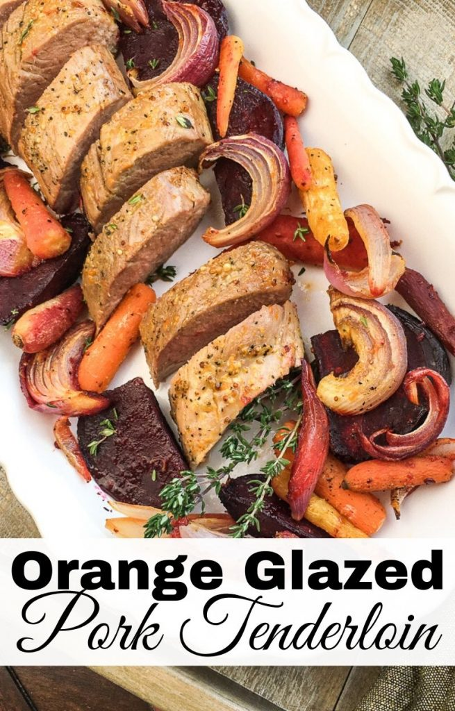 Orange Glazed Pork Loin in Oven