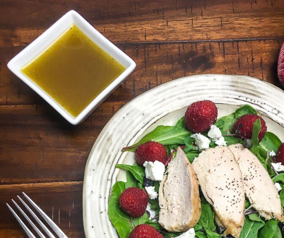 Homemade Balsamic Salad Dressing with Lemon