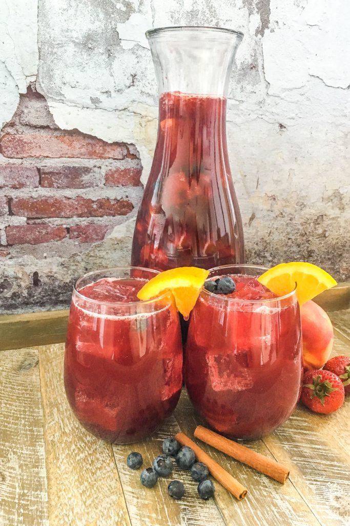 Sparkling Berry Peach Sangria