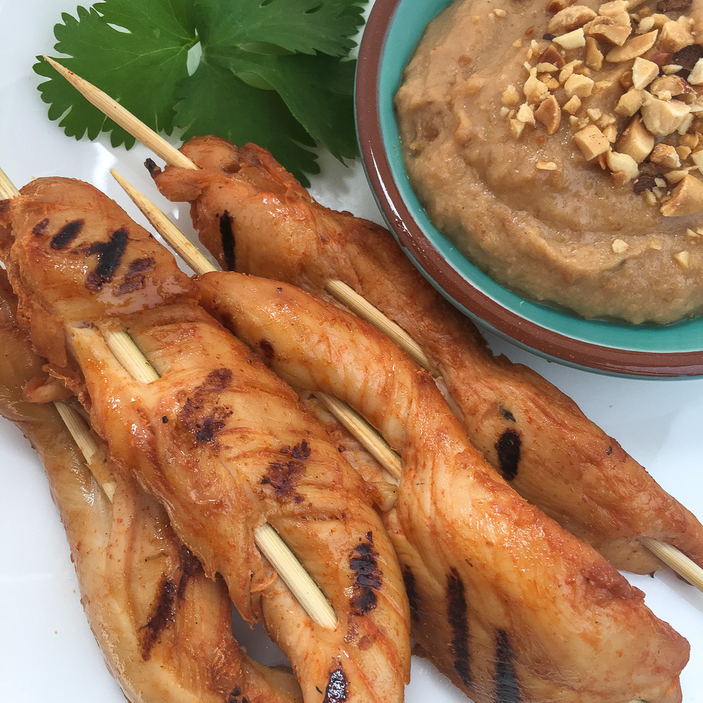 Chicken Satay with a Peanut Sauce