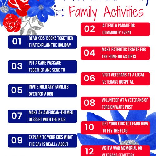 Memorial Day Family Activities- Free Printable