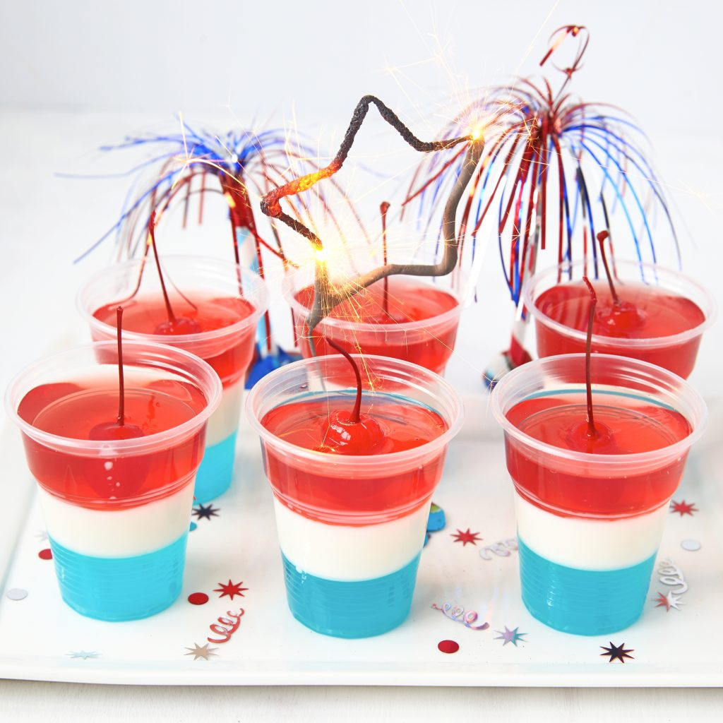 red white and blue jello shots