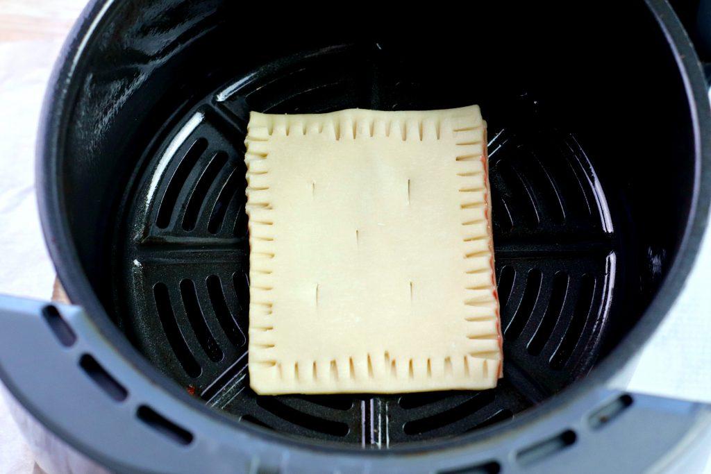 homemade pop tart in the air fryer