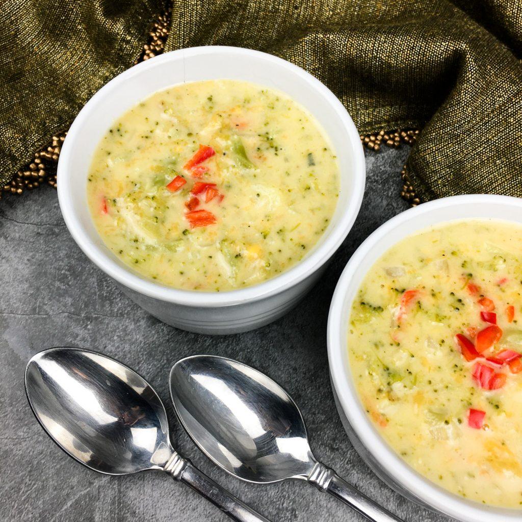 Healthy Broccoli Cheddar Soup {Panera Copycat}