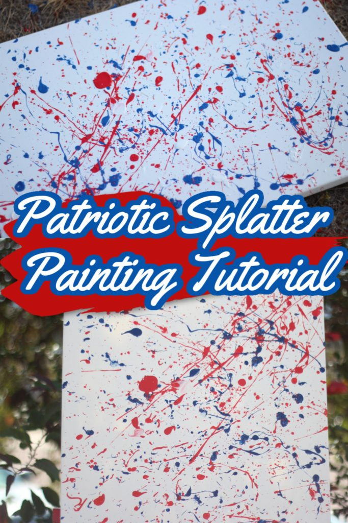 Patriotic Splatter Painting Tutorial